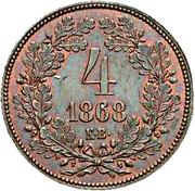 4 Krajczár - I. Ferenc József (Franz Joseph I; 1848/1867-1916) -  obverse