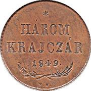 3 Krajczár (War of Independence Coinage) -  obverse