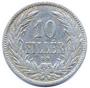 10 Fillér - I. Ferenc József (Franz Joseph I - 1848/1867-1916) -  reverse
