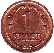 1 Fillér - Miklós Horthy – reverse