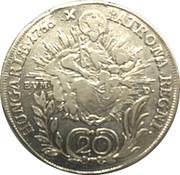 20 Krajczár - Mária Terézia (Maria Theresia; 1740-1780) -  reverse