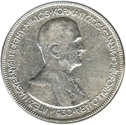 5 Pengő - Miklós Horthy (Regency) – reverse