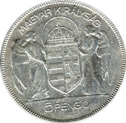 5 Pengő - Miklós Horthy (Regency) – obverse