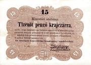 15 Krajczár (Treasury Note) – obverse