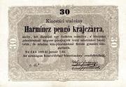 30 Krajcár  (Treasury Note) – obverse