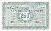 250 Korona (Princess Zita) – reverse