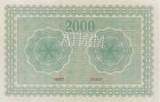 2000 Korona (Princess Zita) – reverse