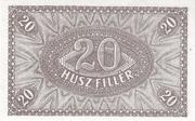 20 Fillér – reverse