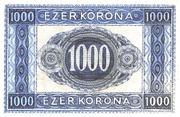 1000 Korona – reverse