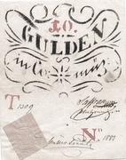 10 Gulden (Siege money, Arad) – obverse