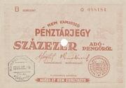 100 000 Adópengő (Tax note) – obverse