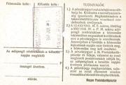 100 000 Adópengő (Tax note) – reverse
