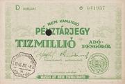10 000 000 Adópengő (Tax note) – obverse