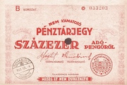 100 000 Adópengő (Tax note; 2nd edition) – obverse