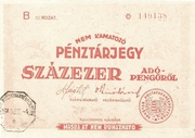 100 000 Adópengő (Tax note; 3rd edition) – obverse