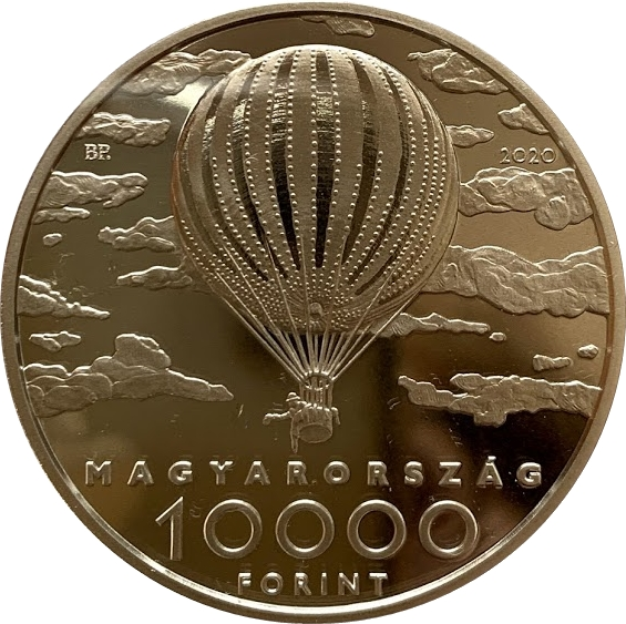 2020 square coin 1 oz silver Hungary 10000 Forint Kiskunság National Park PP
