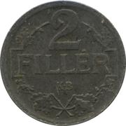 2 Fillér - IV. Károly (Karl IV - 1916-1918) -  reverse