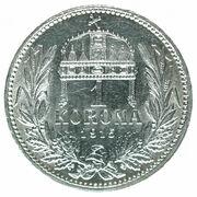 1 Korona - I. Ferenc József (Franz Joseph I - 1848/1867-1916) – reverse