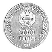 100 Forint (Buda and Pest Unification Centennial)
