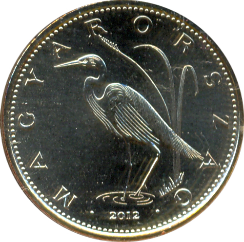 2019 Gem Unc~Great White Egret~Free Shipping Hungary 5 Forint
