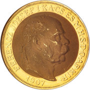 100 Korona - I. Ferenc József (Franz Joseph I - 1848/1867-1916 - Coronation) – obverse