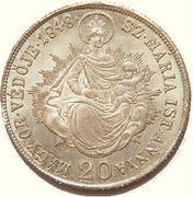 20 Krajczár - V. Ferdinánd (War of Independence Coinage) -  reverse