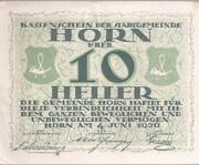 10 Heller (Horn) – obverse