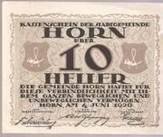 10 Heller (Horn) -  obverse