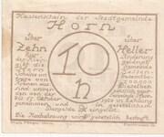 10 Heller (Horn) -  reverse