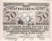 50 Heller (Horn) – obverse