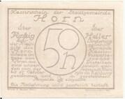 50 Heller (Horn) – reverse