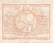 50 Heller (Horn) -  reverse