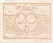 20 Heller (Horn) – reverse