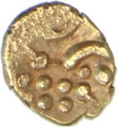 1 Fanam (Narasimha) – reverse
