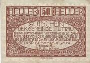 50 Heller (Hüttau) -  reverse