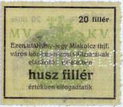 20 Fillér (Miskolc) – reverse