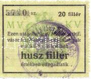 20 Fillér (Miskolc) – obverse