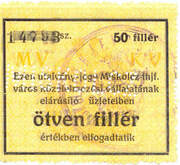 50 Fillér (Miskolc) – obverse