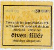 50 Fillér (Miskolc) – reverse