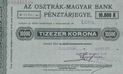 10 000 Korona (Cash Ticket, Kolozsvár) -  obverse