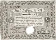 5 Gulden (Siege money, Temesvár) – obverse