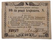 10 Pengő Krajczár (Eger) – obverse