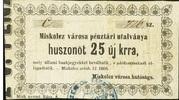 25 Krajczár (Miskolc) – obverse