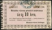 10 Krajczár (Miskolc) – obverse