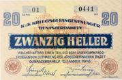 20 Fillér (POW Camp; Dunaszerdahely) – reverse