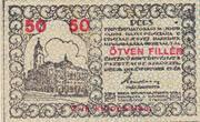 50 Fillér (Pécs) – obverse