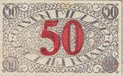 50 Fillér (Pécs) – reverse