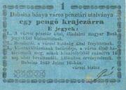 1 Pengő Krajczár (Dobsina) – obverse