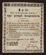 1 Pengő Krajczár (Eger) – obverse