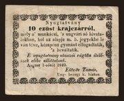 10 Krajczár (Munkács) – obverse